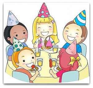 0511-1104-0114-3802_Cartoon_of_Children_at_a_Birthday_Party_clipart_image
