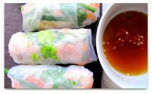 Perfect Vietnamese summer rolls.
